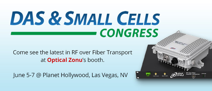 DAS & Small Cells Congress. OZC Will Be There. Will You?